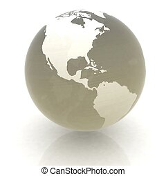 earth globe on white background