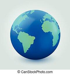 Earth globe on white background. Internet communication concept.