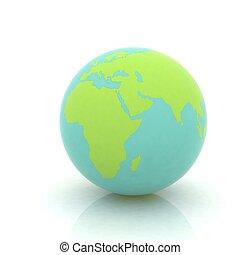 earth globe on white background