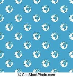 Earth globe pattern seamless blue