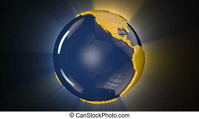 Earth Globe Rotating