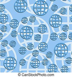 Earth globe seamless pattern. Abstract vector illustration