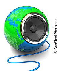 earth globe speaker