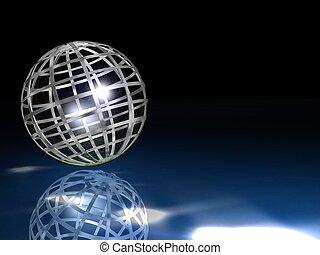 earth globe - 3d illustration of earth globe