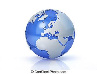 Earth globe stylized. Europe view.