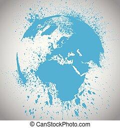 Earth globe vector illustration