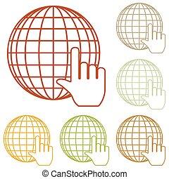 Earth Globe with cursor
