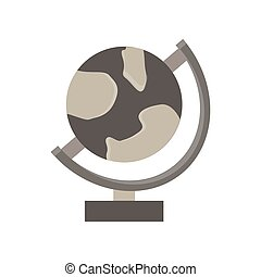Earth globes isolated on white background. Flat planet Earth icon. Vector illustration ecology continent