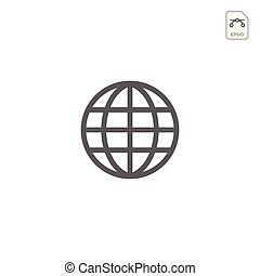 Earth globes isolated on white background. Flat planet Earth icon. Vector illustration or logo inspiration