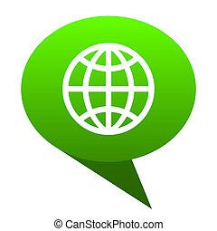Earth green bubble icon