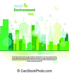 Green City World Environment Day Ecology Protection Holiday Greeting Card