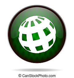 earth green internet icon