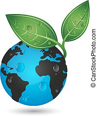 Earth green planet concept