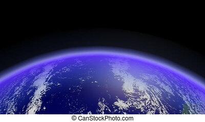 Earth Horizon Loop. CG. hd