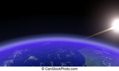 Earth Horizon Slow. CG. HD.