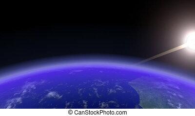 Earth Horizon Slow. CG. HD.