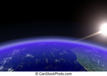 Earth Horizon Slow. CG. ntsc