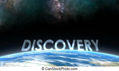"""Earth horizon view, Discovery."""