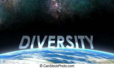 """Earth horizon view, Diversity."""