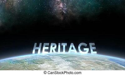 """Earth horizon view, Heritage."""