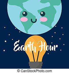 earth hour cartoon