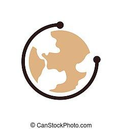 Earth Icon design brown color