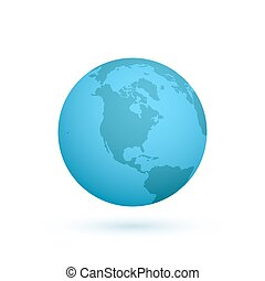 Earth icon isolated on white background.