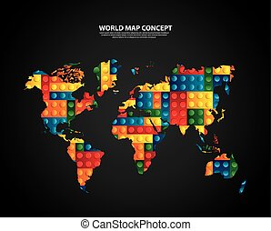 World map puzzle illustration design over a white background world and map design vector graphic gumiabroncs Choice Image