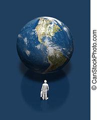 earth., illustration, 3d