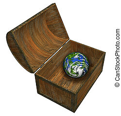 Earth in a chest