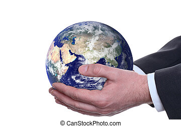 earth in a hands, isolated 2