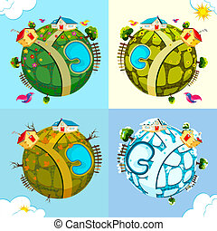 Earth in different Season