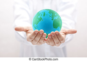 Earth in hands