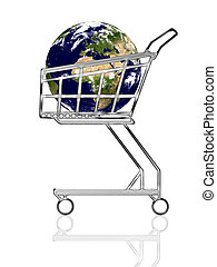 Earth in the cart - Conceptual image: general business....