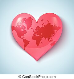 Earth in the form of heart