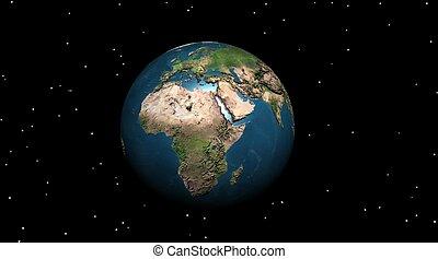 Earth in the night