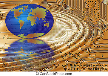 Earth in the printed circuit