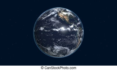earth in the space