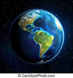 earth in the space - Universe