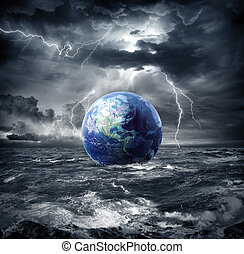 earth in the storm