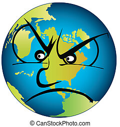 Earth is angry - The earth is very angry. Lossless scalable...