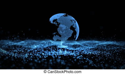 Earth landscape particles business background