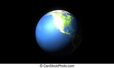 Earth layers - Educational animation, Earth layers. Matte.