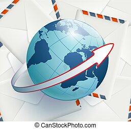 Earth lies on postal envelopes