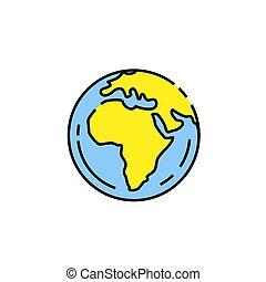 Earth line icon