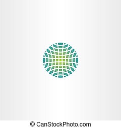 earth logo abstract globe vector icon element