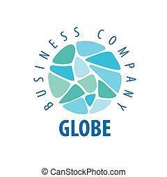 Earth  logo template. Globe sign