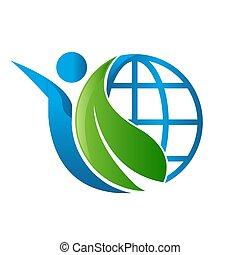 world environment renewable green energy logo vector illustrations