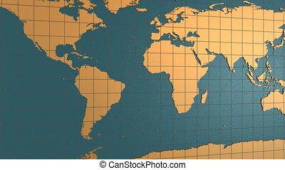 Earth map folding on China
