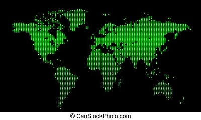 Earth map green (loop)